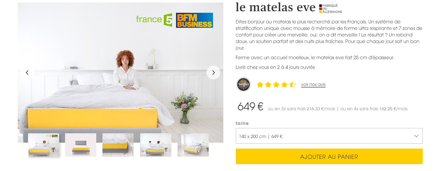 quels sont les prix des matelas eve comparatif matelas. Black Bedroom Furniture Sets. Home Design Ideas