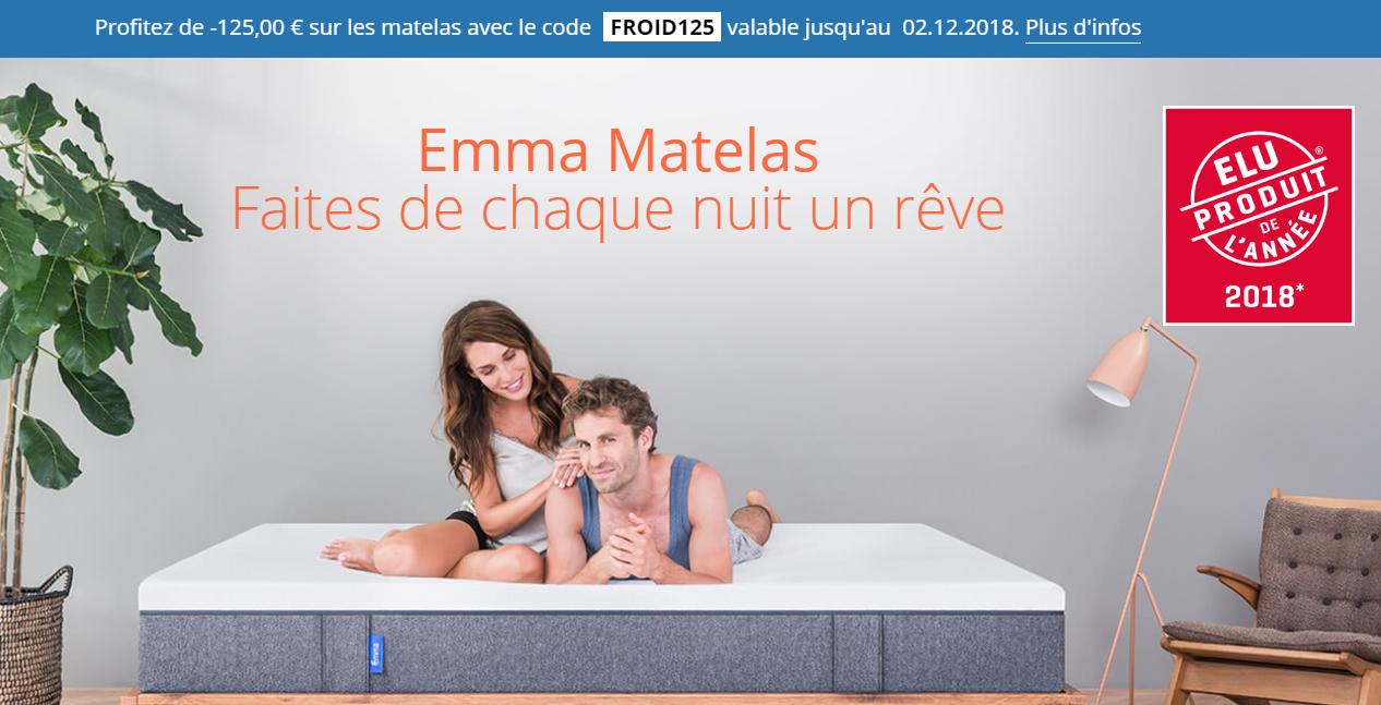 emma matelas code promo 125 euros